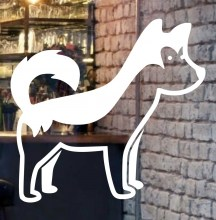 Beautiful-dog-front-glass-logo-design