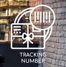 tracking-number-front-door-glass-logo